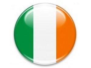 bouton drapeau irlandais