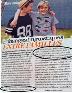 Article Femina echanges linguistiques