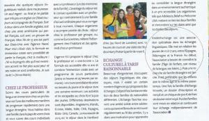 Article échanges linguistiques Magazine Parenthèse